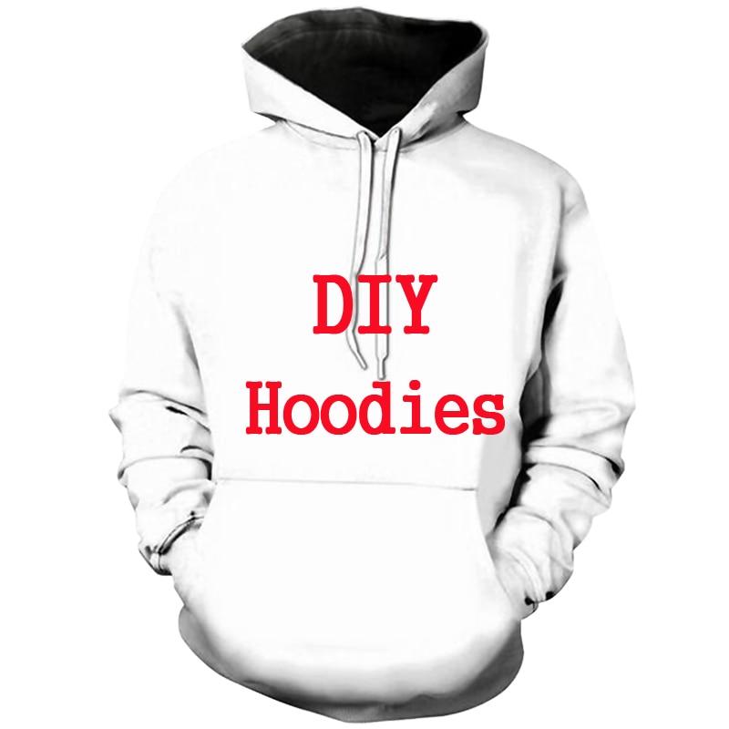 Dropshipping Men/Women 3d Print DIY Hoodie Pullover Customized Custom Tops Design Clothing Hoodies Sweatshirt Plus Size 5XL