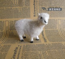 cute simulation goat toy lifelike handicraft sheep gift about 12x4.5x10cm