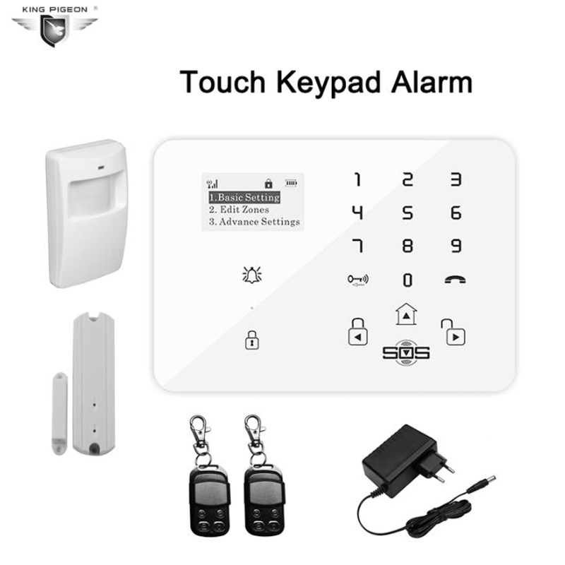 Wireless GSM 3G Alarm System For Home Security System Touch Keypad Burglar With PIR Motion Sensor