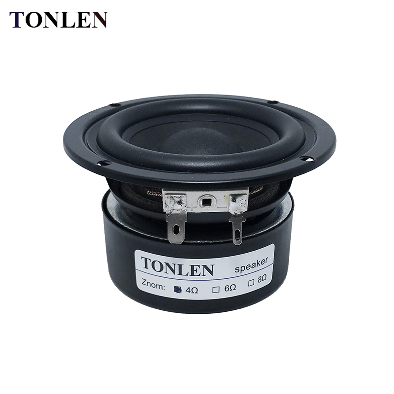 1PCS 3 Inch Woofer Subwoofer Speaker 4 Ohm 8 Ohm 25 W Bass HIFI Wireless Bluetooth Music Speakers Soundbar