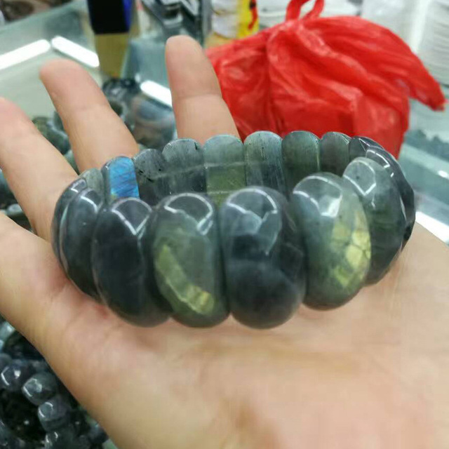 Natural Stone Labradorite Bracelet1