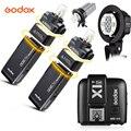 Godox Flash de Bolso Ao Ar Livre 2X 200WS AD200 2.4G Sem Fio TTL HSS 1/8000 s sincronização + AD-B2 Bowens mount + X1T-S Para Sony a77II, a7RII,