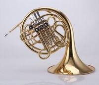 4 key двойная французская валторна золотой лак F/Bb