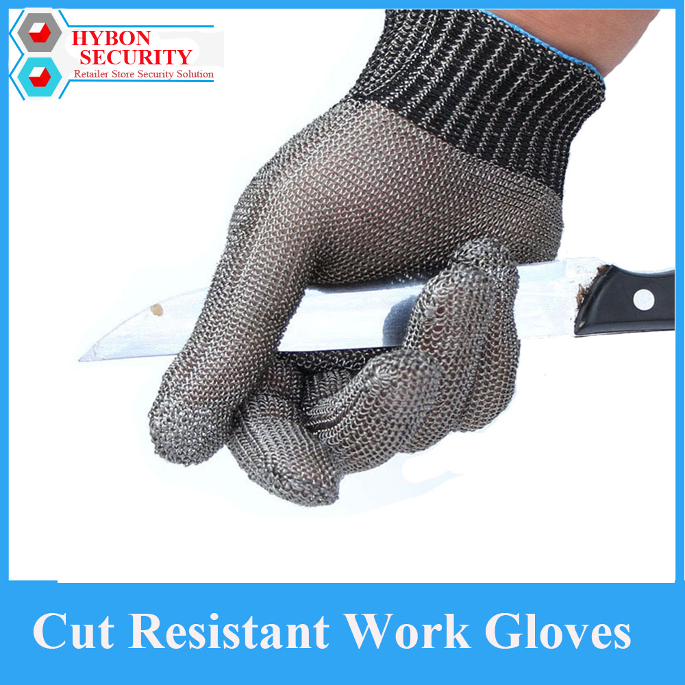 HYBON Anti Cut Glove Stainless Steel Safety Work Gloves Self Defense Cutter Working Gloves Guantes Antiestaticos Gloves Garden protective gloves stainless steel low temperature protection gloves strong scratch glass knife self defense anti knife gloves