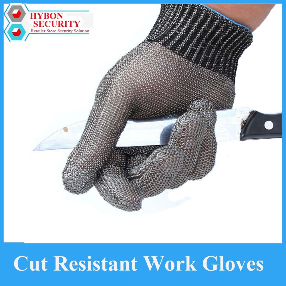 HYBON Anti Cut Glove Stainless Steel Safety Work Gloves Self Defense Cutter Working Gloves Guantes Antiestaticos Gloves Garden