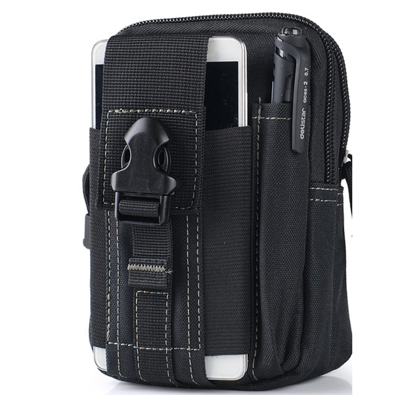 Universal Outdoor Sport Tactical Bag Molle Waist Nags 5 5 6 Inches Waterproof Phone Cases 600D