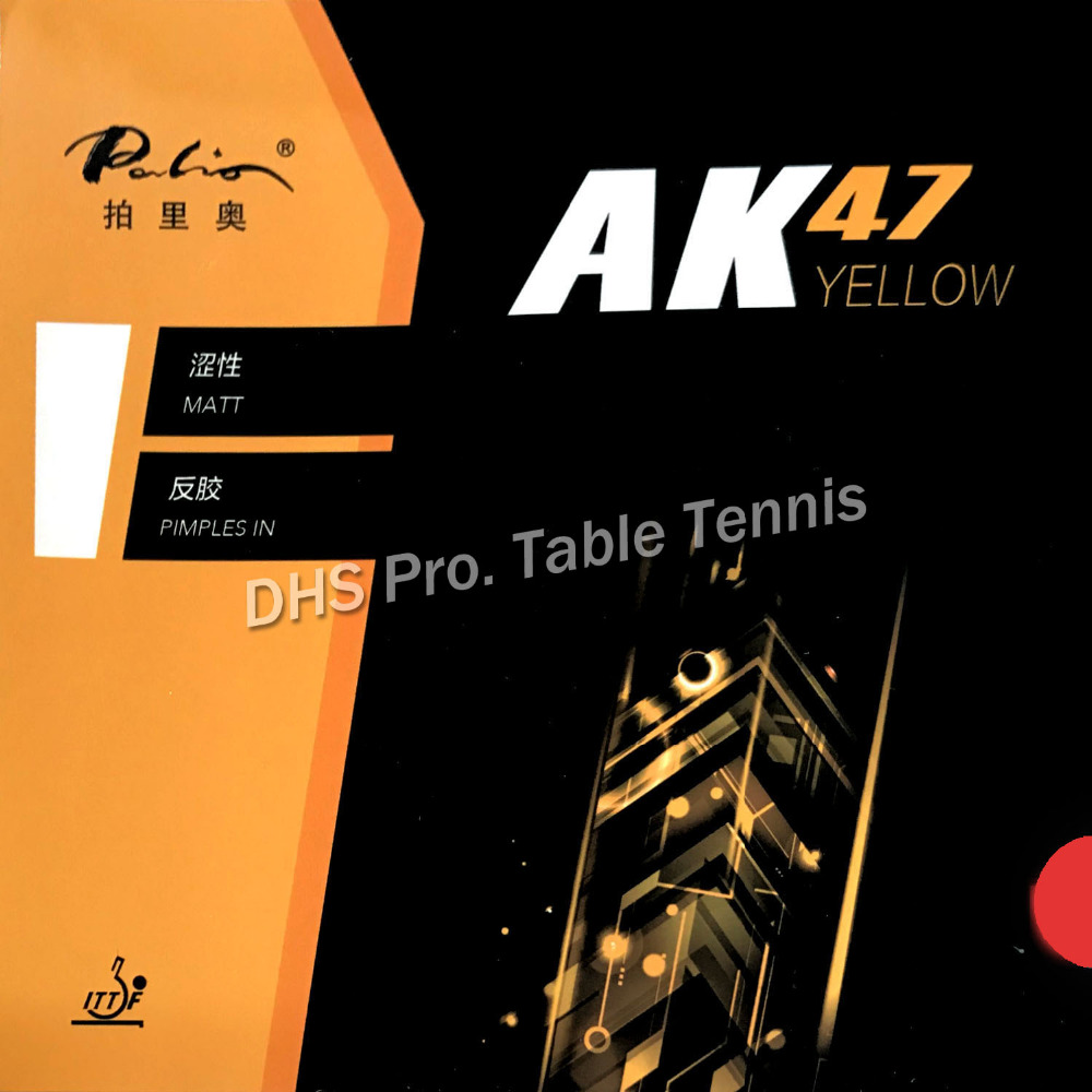 Palio AK47 AK-47 AK 47 YELLOW Matt Pips-in Table Tennis Rubber With Sponge 2.2mm H42-44