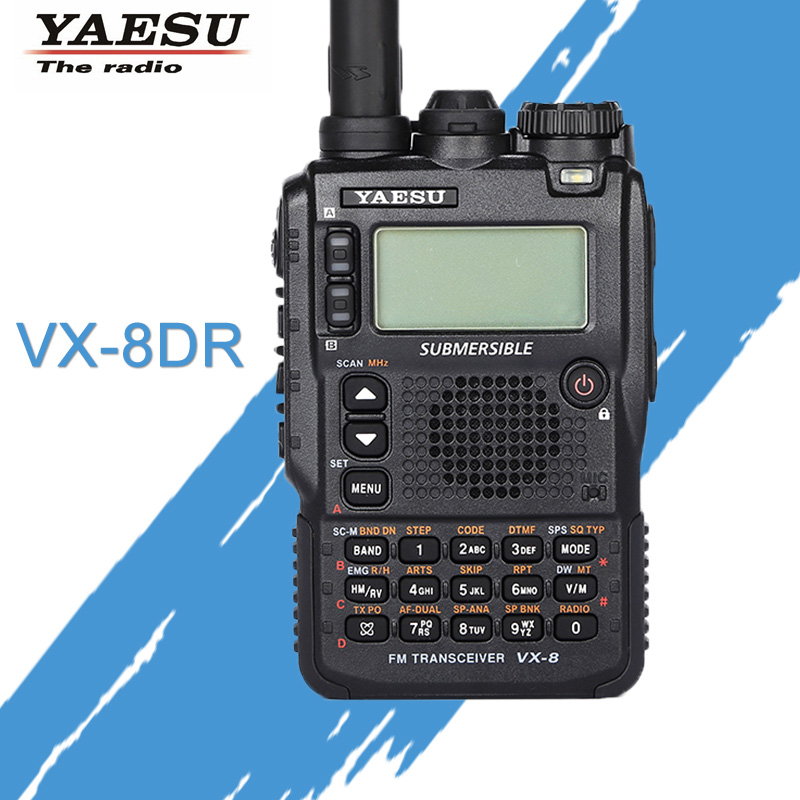 General Walkie Talkie Yaesu VX-8DR Three-Band Waterproof Handheld FM Ham Two-Way Radio Transceiver