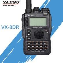 Walkie talkie gerais yaesu VX 8DR, transmissor de rádio fm à prova dágua com três tiras