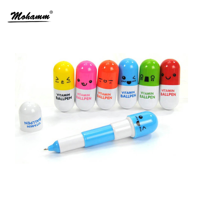 1pcs Cute Kawaii Blue Ink Capsule Creative Pills Ball Ballpoint Pens Ballpen For Office School Writing Supplies Stationery