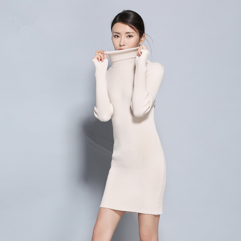 a17b0120d adohon 2018 womens winter Cashmere sweaters and auntmun women knitted  Dresses Pullovers High Quality Warm Female Turtleneck-in Dresses from  Women's Clothing ...