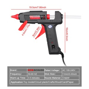 Image 3 - NEWACALOX 60W/100W Hot Melt Glue Gun with 11mm Hot Melt Glue Sticks Heat Temperature Tool 110V/220V Mini Guns Thermo Gluegun