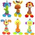 6 estilo Macaco Feliz Brinquedos Sino de Mão Chocalho Do Bebê Recém-nascido Macio Plush Celulares Na Cama de Bebê/Berço Carrinho De Criança com Mordedor