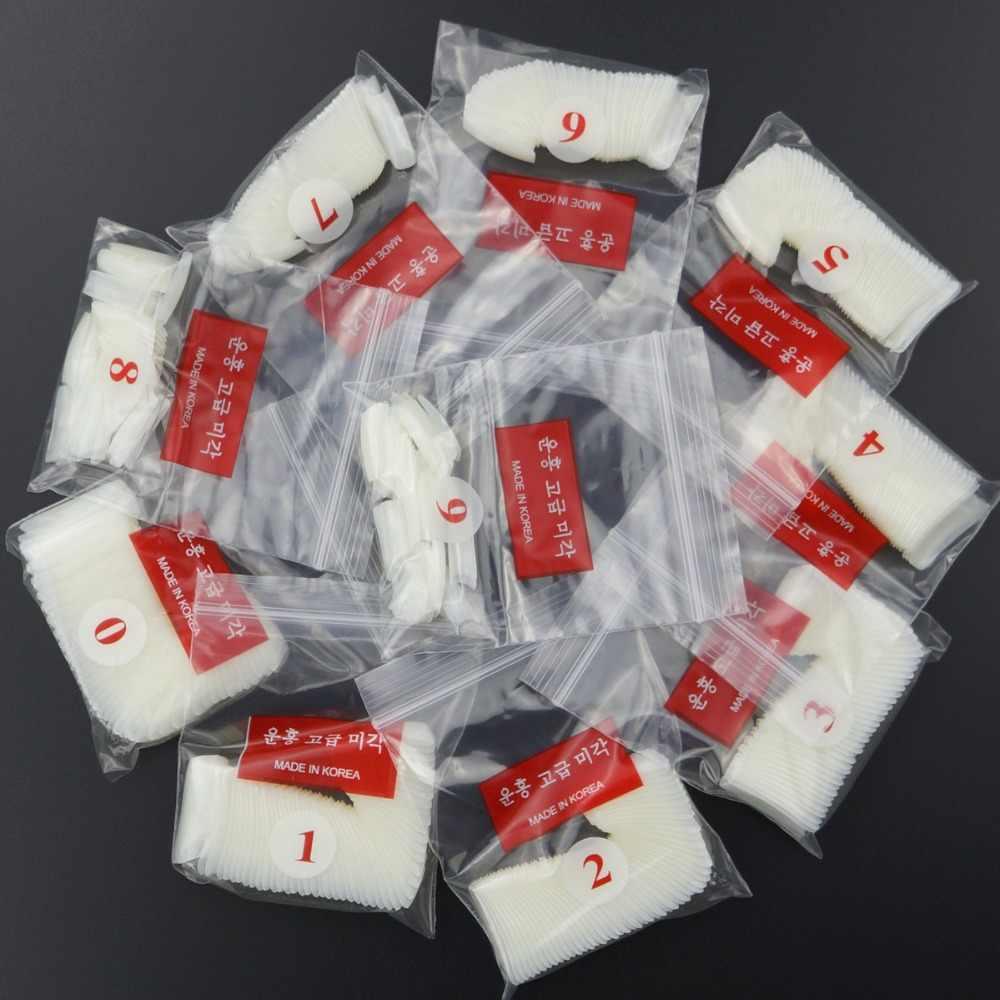 500Pcs Clear White Natuurlijke Franse Valse Acryl Nail Tips Uv Gel Ultra Flexibele-Size #0- #9 - Pack Van 500 Tips Fake Nail