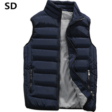 SD Brand men Vest 2019 Spring Male Waistcoat Slim Fit sleeveless jacket Autumn casual vest man plus size S- 5XL dropshipping 17(China)