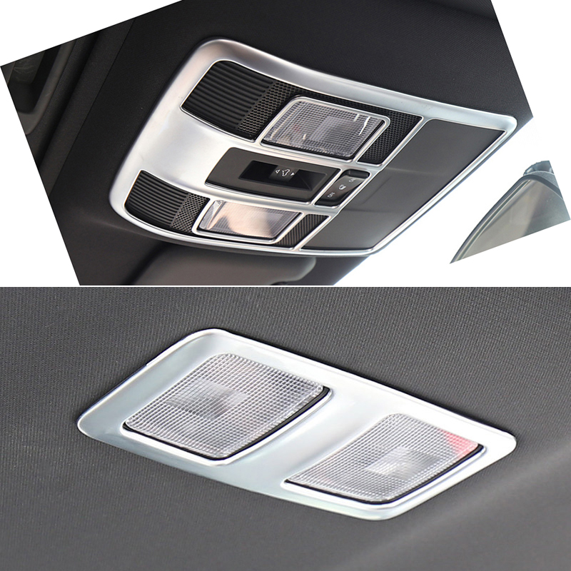 ABS matte Accessories Interior Car Aut Front & Rear Reading Light Lamp Cover Trim 2pcs for Mazda CX-9 CX9 2016 2017 2018 for mazda cx 5 cx5 2nd gen 2017 2018 interior custom car styling waterproof full set trunk cargo liner mats tray protector