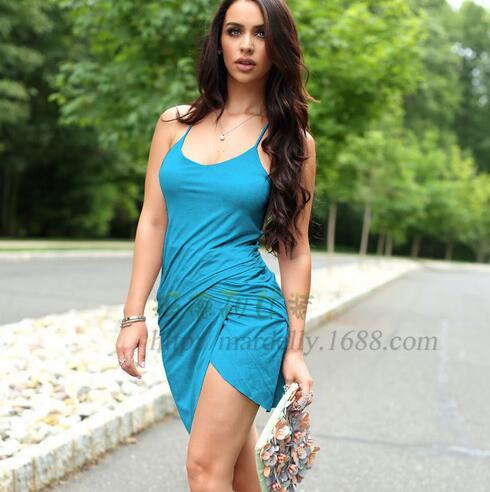 d96e0a525148 Sexy Low Cut Off Shoulder Irregural Midi Dress Women Fashion Summer  Sundresses 6 Color Slim Waist Casual Clothing Vestido VN15