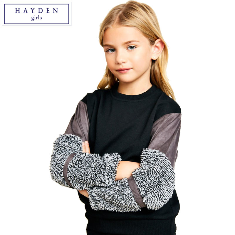 HAYDEN Girls Relaxed Fit Shirt Top 2018 Spring New Brand Clothing for Teenagers 7 8 9 10 11 12 13 14 Years Girls Pullover blouse for girls autumn clothes for teenagers 8 9 10 11 12 13 years slash neck flower girls blouse white top shirt camisa xadrez