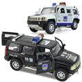 Сплав автомобиля полицейская машина игрушка полицейский автомобиль hummer H3 полицейский модели автомобилей kid toys для Детей новый год подарок украшения