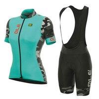 2017 Women Cycling Jersey set Breathable Short Sleeve Cycling Clothing ropa ciclismo mujer Bicycle MTB bike jersey bib shorts