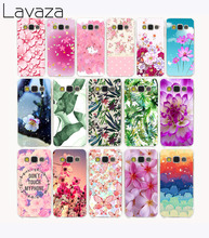 574G Flowers Ethnic Style painted Transparent Hard Case for Galaxy A3 A5 A7 8 Note 2 3 4 5 J5 J7 & Grand 2 & Prime 2015
