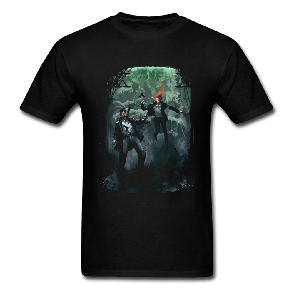 End Of The Tunnel T Shirt Men Tshirt Suspense Movie Clothing Black T-shirt Cotton Top Character Tee Shirts image