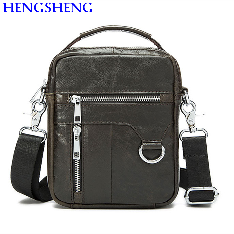 Hengsheng hot selling genuine font b leather b font men bag with top quality cow font