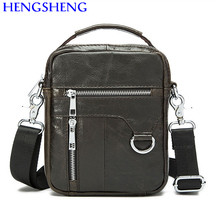 Hengsheng hot selling genuine leather men bag with top quality cow leather men shoulder bags and