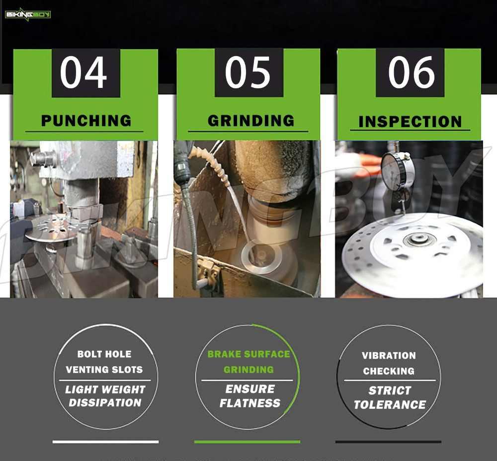 BIKINGBOY для поездок на мотоцикле DUCATI HYPERMOTARD 796 800, 10, 11, 12, 13 лет, Hypermotard 1100 07 08 09 передние тормозные диски роторы + тормозные колодки для замены