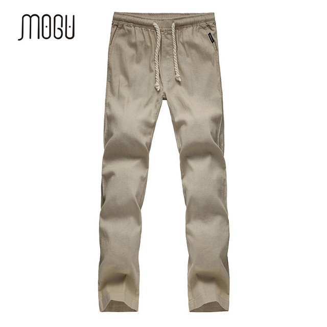 2017 Nueva Llegada Más El Tamaño M-5XL Pantalones Para Los Hombres de Alta Calidad de Algodón de Lino Pantalones Casuales pantalones de lino sueltas