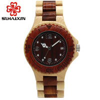 OYATON Analogue Luxury Wooden Watch For Women Newest Quartz Watch Maple Walnut Wood Wrist Watch For