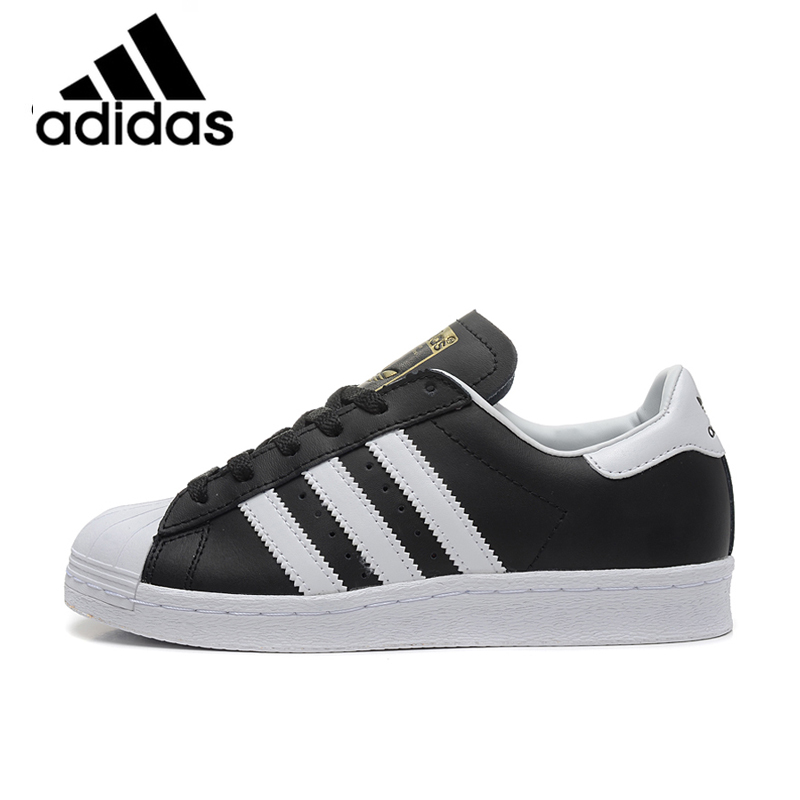 e51f3066d8 US $54.68 55% OFF|Official Authentic ADIDAS Clover Superstar Men and Women  Skateboard Shoes Black Classic Outdoor Fashion Lightweight G61069-in ...
