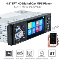 Autoradio Cassette Recorder Automagnitola 1 Din Viehcle FM Radios MP5 Multimidia Player Video Wireless Bluetooth Remote