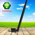 Wi-fi sem fio Adaptador de Rede Com Antena 6dBi 150 M USB Placa de Rede Para PC Laptop Receptor Wi-fi Dongle Wi-Fi Externo antena