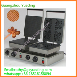 Top sales rectangle cone maker and butterfly waffle baker model