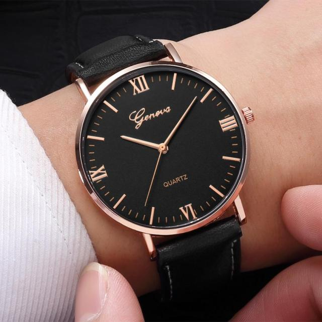 Men's Leather Watches Classic Design Watches
