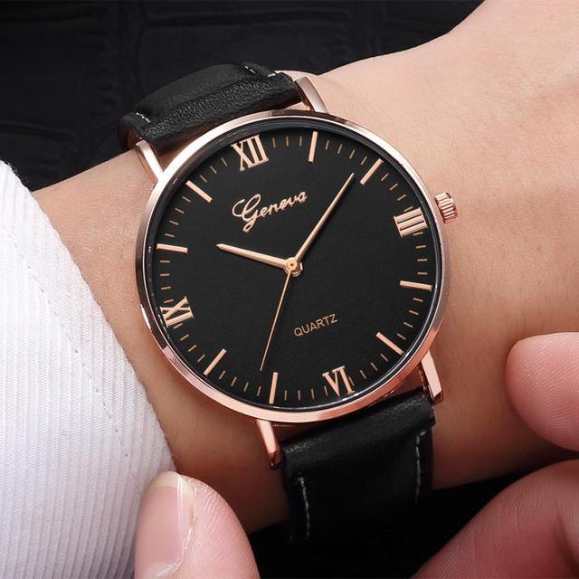 2018 Reloj de Moda Grande Mostrador do Relógio Militar Homens Relógio de Quartzo Relógios Esportivos De Couro Clássico relógio de Pulso Relogio masculino # D