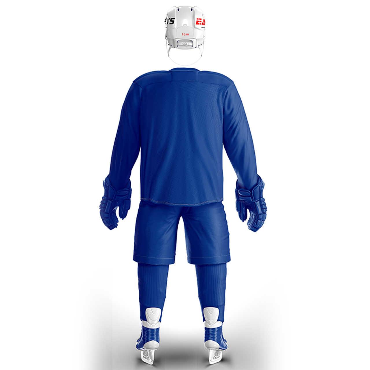 Han Duck Бесплатная доставка дешевый синий тренировочный костюм хоккейный свитер с логотипом Han Duck на заказ в наличии
