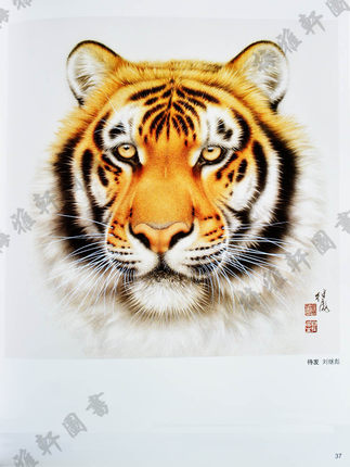 Image 5 - Chinese Meticulous Brush Gongbi Animal Tiger Painting Album Art Book-in Books from Office & School Supplies