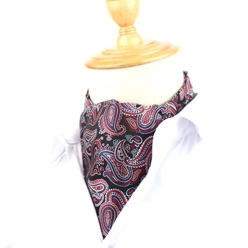 Moda Cravat Ascot poliéster hombres Floral patrón corbata corbatas ...