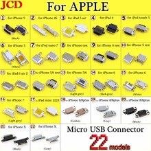 JCD جديد مايكرو usb موصل تيار مستمر السلطة جاك آيفون 4 4s 5 6 7 8 8 plus X شحن ميناء أنثى المقبس مايكرو USB موصل التوصيل