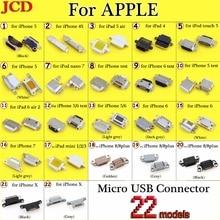 Jcd新マイクロusbコネクタdc電源ジャックiphone 4 4s 5 6 7 8 8プラスx充電ポート雌ソケットマイクロusbコネクタプラグ