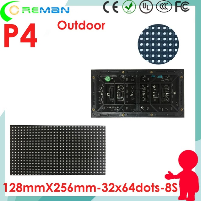 US $21 88 |led panel 128x128 p4 , led panel p4 128x256 outdoor led video  wall panel , diy outdoor led sign module power supply control card-in LED