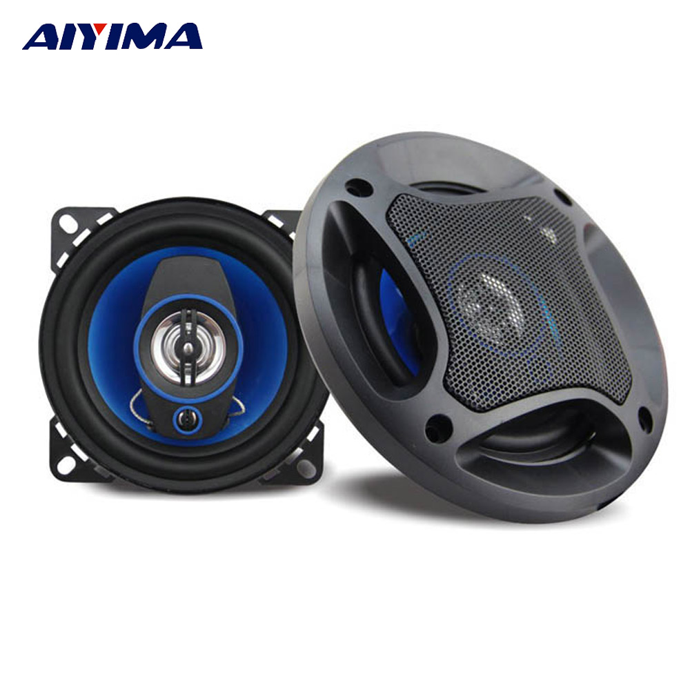 Aiyima 2PC 4Inch 3 Way Coaxial Car Speaker 4Ohm 100W Full Range Frequency Loudspeaker HiFi Auto Automobile Speakers h 019 fountek fr88ex full range 3 inch hifi speaker amplifier speaker hot sale 84 3db 1w 1m