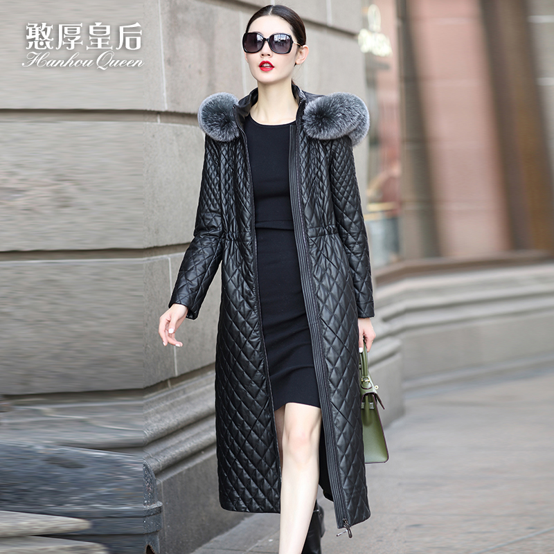 2016 Winter Jacket Women genuine leather clothing font b women s b font long slim design