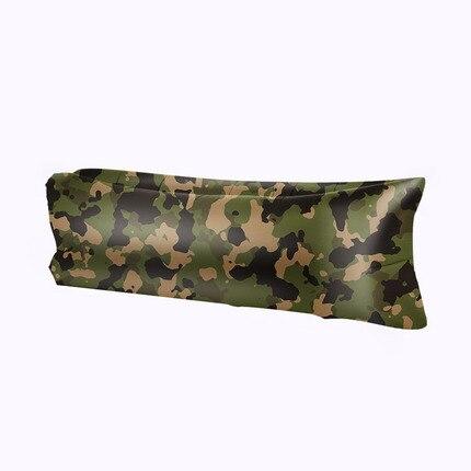 Ao ar livre camuflagem ar siesta singleplayer varanda Beanbag cadeira do sofá inflável cama descansava ar-cheia fácil de dobrar/armazenamento