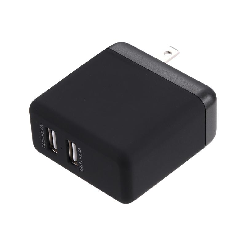 Portable US Plug <font><b>Wall</b></font> Travel Charge for Mobile <font><b>Phone</b></font> Quick <font><b>Charger</b></font> Dual USB 5V 2.4A/2.4A <font><b>Charger</b></font> for Sumsung Huawei <font><b>Phones</b></font>