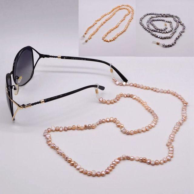 سلسلة النظارة اللؤلؤ ، اللؤلؤ الطبيعي الباروك الصغيرة ، سلسلة النظارة شخصية ، اكسسوارات النظارات الشمسية ، توصية حصرية