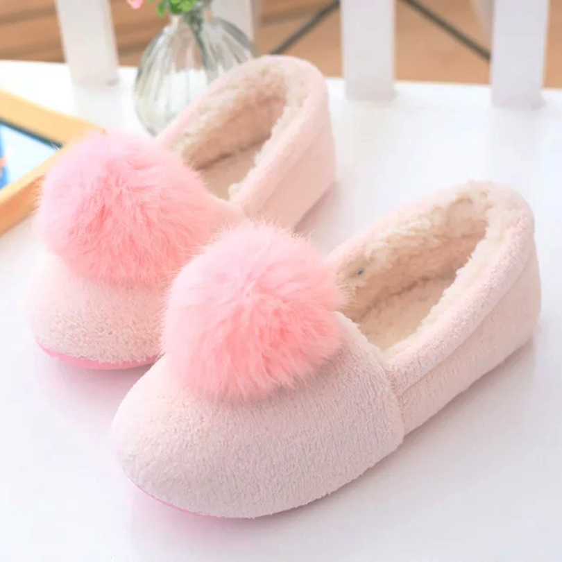 Large real rabbit fur ball home autumn and winter shoes, floor slippers, princess style home waterproof shoes, free shipping