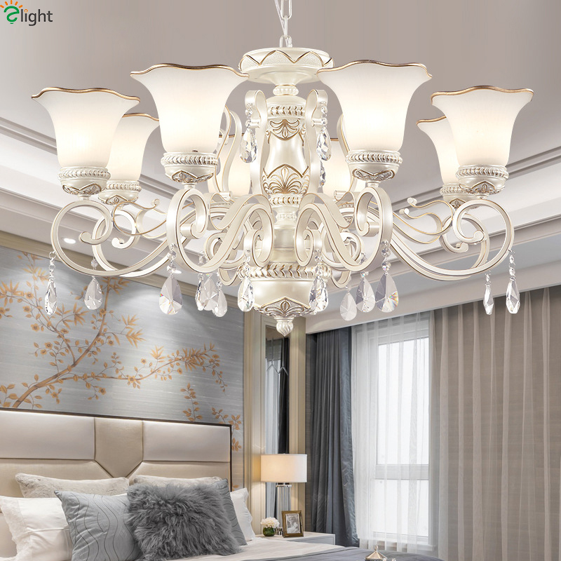 Europe Lustre Crystal Led Chandeliers Lighting Resin Living Room Led Pendant Chandelier Lights Dining Room Hanging Lamp Fixtures modern lustre crystal led chandelier lighting chrome metal living room led pendant chandeliers light led hanging lights fixtures